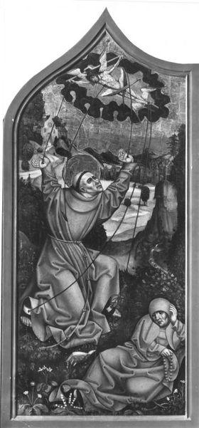 Stigmatisation des hl. Franziskus (Abgetrennte Rückseite siehe 10396)