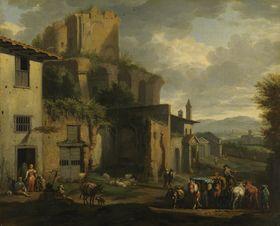 Szene vor einer römischen Ruine