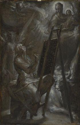 Hl. Lukas malt die Muttergottes