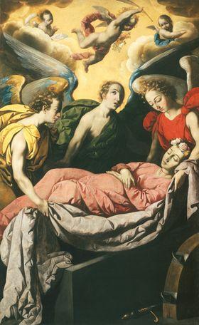 Die Grablegung der hl. Katharina von Alexandrien auf dem Berg Sinai
