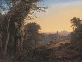 Wald bei Olevano (Serpentara)