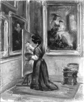 Kopistin in der Alten Pinakothek