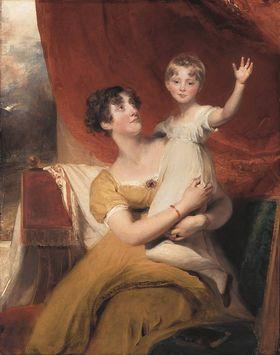 Lady Orde mit ihrer Tochter Anne