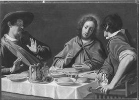 Christus und die Jünger in Emmaus