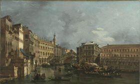 Blick auf den Rialto und den Palazzo dei Camerlenghi