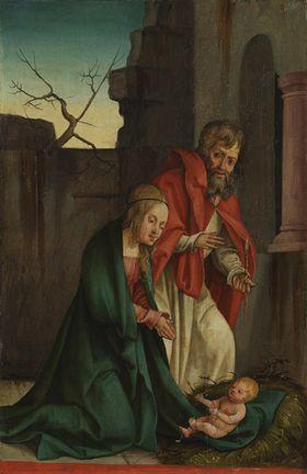 Flügel eines Altares: Geburt Christi
