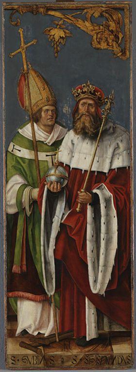 Annenaltar: Die hll. Gubinus und Sigismund