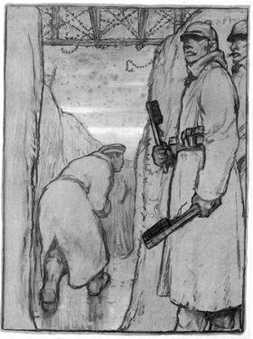 Soldat mit Handgranaten