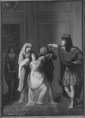 Antike Verstoßungsszene