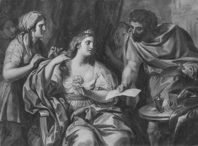 Königin Semiramis erhält die Nachricht vom Aufstand in Babylon