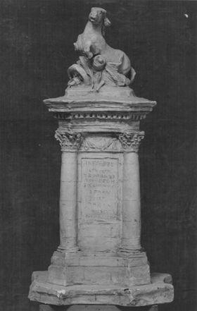 Entwurf eines Kriegerdenkmals zum Gedächtnis der Gefallenen des Krieges 1870/71 in Wiesbaden