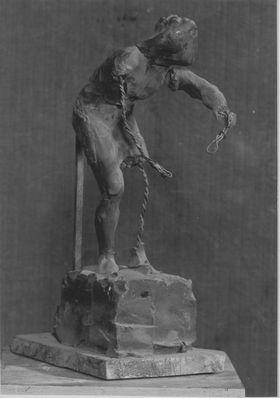 Bozzetto für eine Nischenfigur am Hubertusbrunnen in München (?)