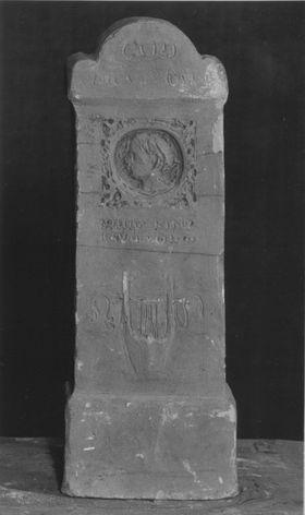 Entwurf für das Grabmal des Dichters Wilhelm von Hertz auf dem Nordfriedhof in München