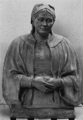 Irene Hildebrand, die Frau des Künstlers