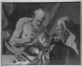 Isaak segnet Esau