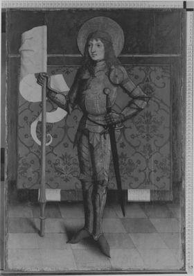 Unbekannter Ritterheiliger (Abgespaltene Rückseite siehe WAF 1209)