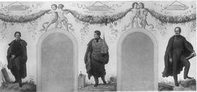 Bildnisse der Künstler Peter von Cornelius, Joseph Daniel Ohlmüller und Peter von Hess