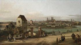 Ansicht der Stadt München von der Ostseite