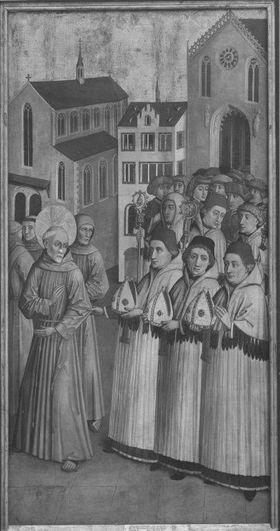 Der hl. Bernhardin lehnt die Bischofswürde von Siena, Ferrara und Urbino ab