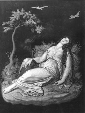 Das Märchen von Amor und Psyche: Psyche schlafend