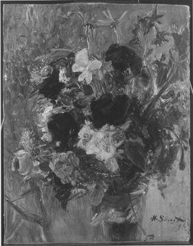 Blumenstillleben (Blumenstrauß im Glas)