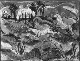 Fliehende Pferde