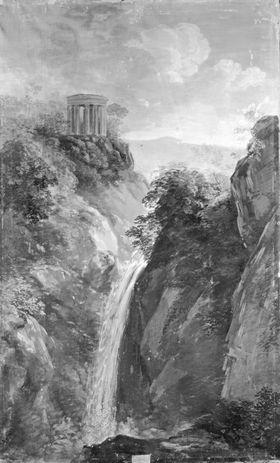 Wasserfall und Rundtempel bei Tivoli