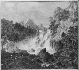 Wasserfall mit Burg