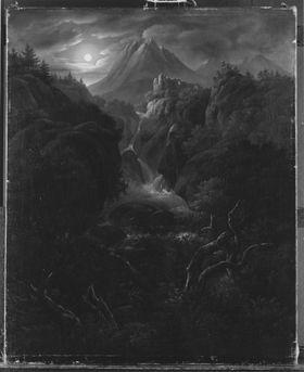 Mondschein im Gebirge