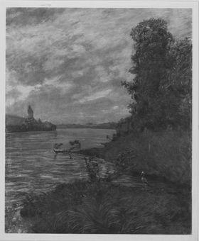 Landschaft am Rhein