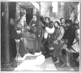 Erster Wettenhauser Altar: Christus vor Kaiphas Rückseite: Auferstehung Christi