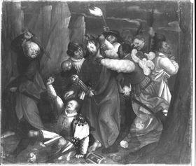 Erster Wettenhauser Altar: Gefangennahme Christi Rückseite: Christus vor Pilatus