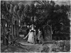 Rubens und seine zweite Frau im Garten