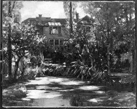 Das Haus des Künstlers in Dießen im Herbst