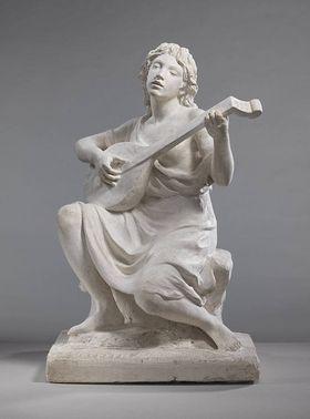 Lautenspielerin (Modell für das Denkmal des Geigers Joseph Joachim in Berlin)