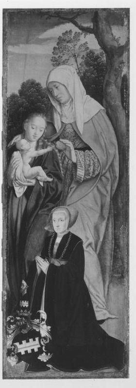 Rinck-Altar: Hl. Anna Selbdritt und Stifterin Sibylla Rinck, geb. Kannegießer