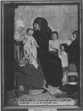 Mindelheimer Sippenaltar: Maria Cleophae und Alphäus mit ihren Kindern Jacobus d. J., Simon Zelotes, Judeas Thaddäus und Josephus Justus