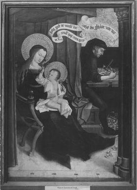 Mindelheimer Sippenaltar: Maria mit Joseph und Jesus