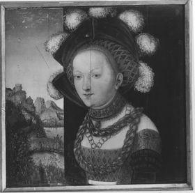 Bildnis einer fürstlich gekleideten jungen Dame (Salome-Fragment)