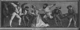 Predella mit Steinigung des hl. Stephanus