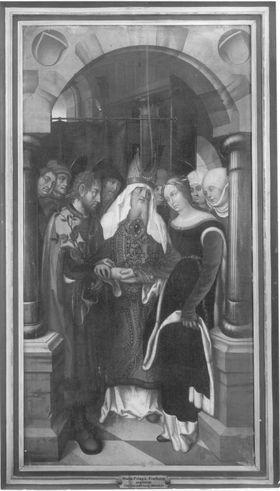 Tafel eines Marienaltares: Vermählung Mariens