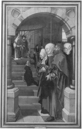 Tafel eines Marienaltares: Tempelgang Mariens