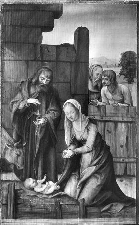 Marienaltar, Teil des rechten Standflügels: Geburt Christi