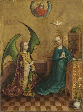 Heisterbacher Altar: Verkündigung an Maria