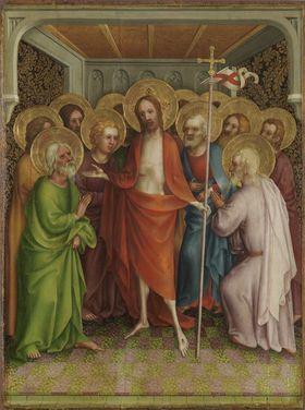 Heisterbacher Altar: Christus erscheint den 11 Jüngern