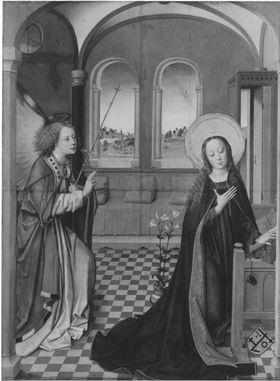 Lyversberg-Passionsaltar: Verkündigung an Maria