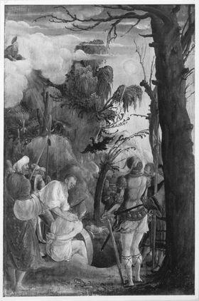 Martyrium des hl. Florian (Rückseite: Unterer Teil eines Schmerzensmannes)