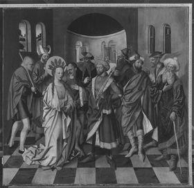 Atteler Altar: Hl. Katharina von Alexandrien vor dem Kaiser