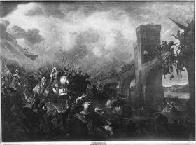 Sieg Konstantins in der Schlacht am Ponte Molle