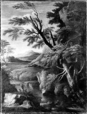 Landschaft mit Kriegern